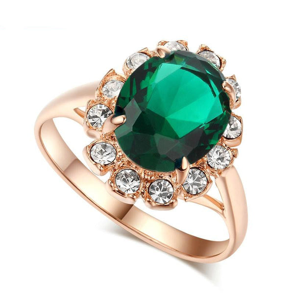 Rose Gold Emerald