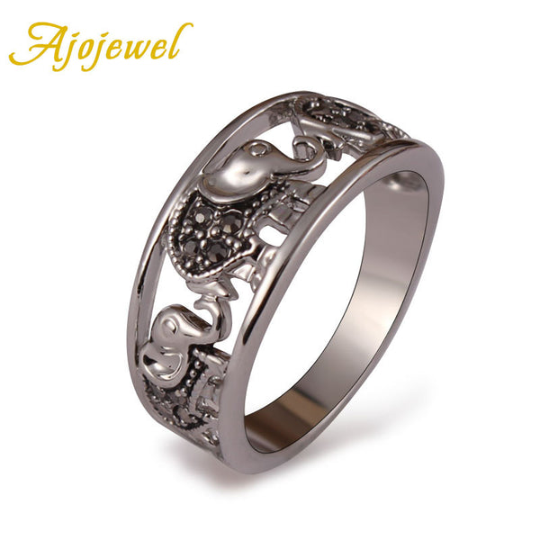 Platinum Elephant Ring