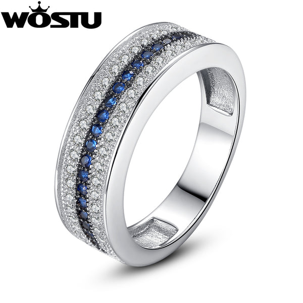Luxury White Gold Wedding Ring in Micro Setting With Zircon