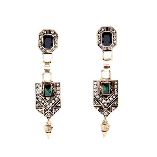 Vintage Long Drop Earrings