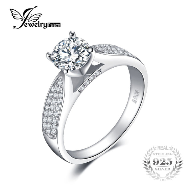 1.32ct Gem Pure Silver Engagement Ring