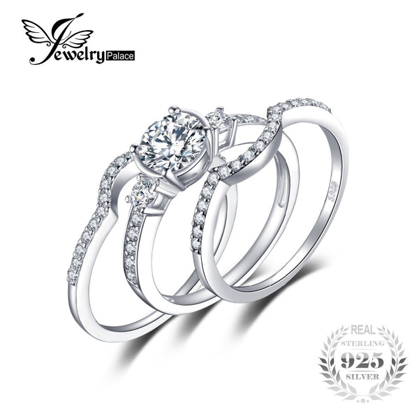 3 Stones 1.5ct Wedding Ring