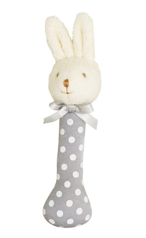 Alimrose Designs | Bunny Stick Rattle (15.5cm) - Soft Grey