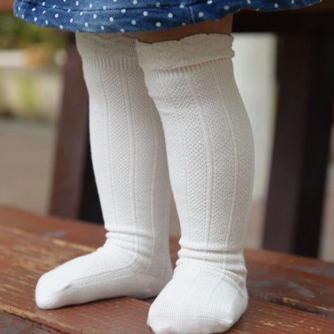 Your bub will look super cute in these on trend Frill Tope Knee High Socks