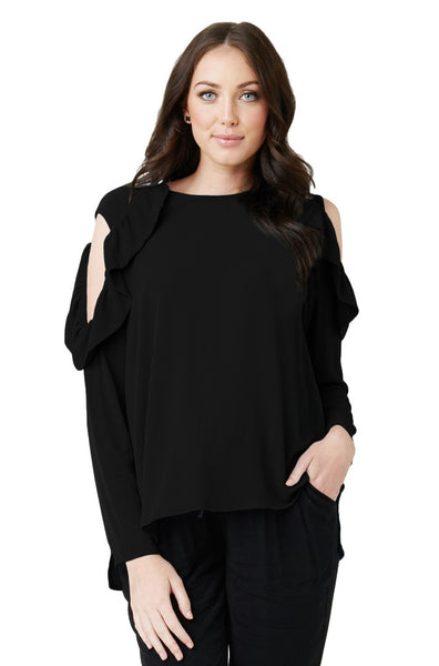 Frill Cut Out Top