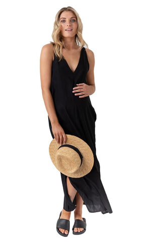 Indie Silk Dress in Black