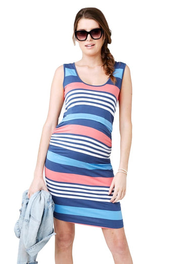 Stripe Nursing Dress