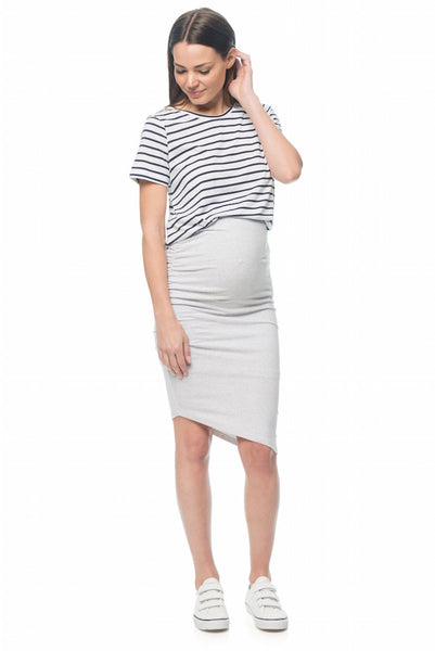Stay Up Late Skirt in Light Grey