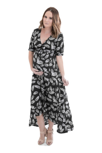 Harlow Wrap Dress - Feather