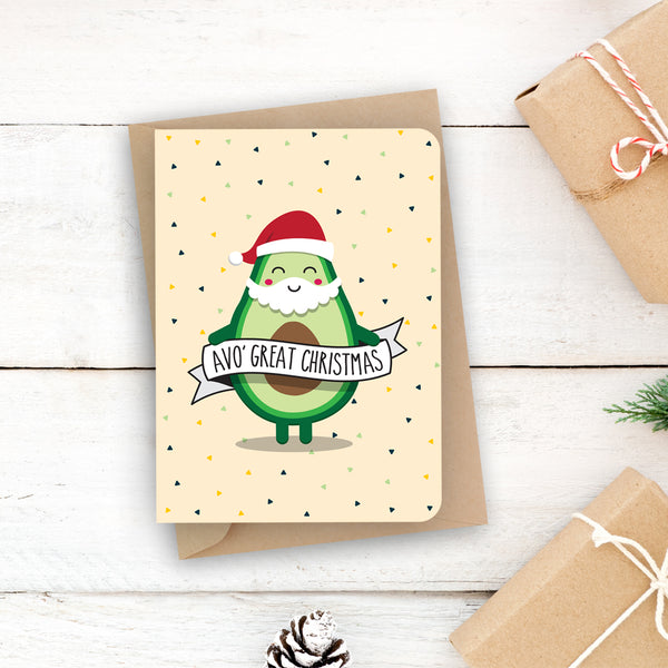 Christmas pun card - Avo Great Christmas