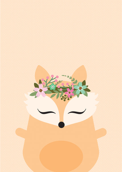 Set of 3 Boho art prints * PANDA * RABBIT * FOX
