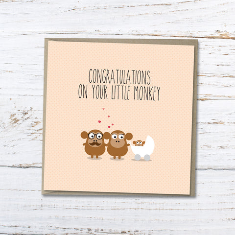 New baby: Congratulations on your little monkey
