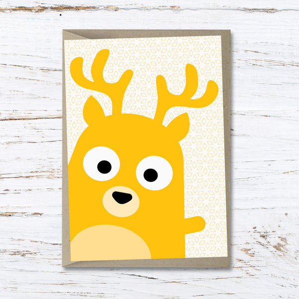 Dolly the deer greeting card