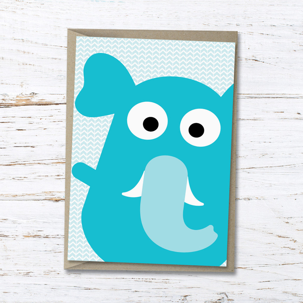Evie the elephant greeting card