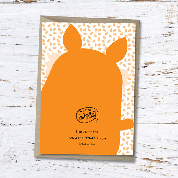 Francis the fox greeting card