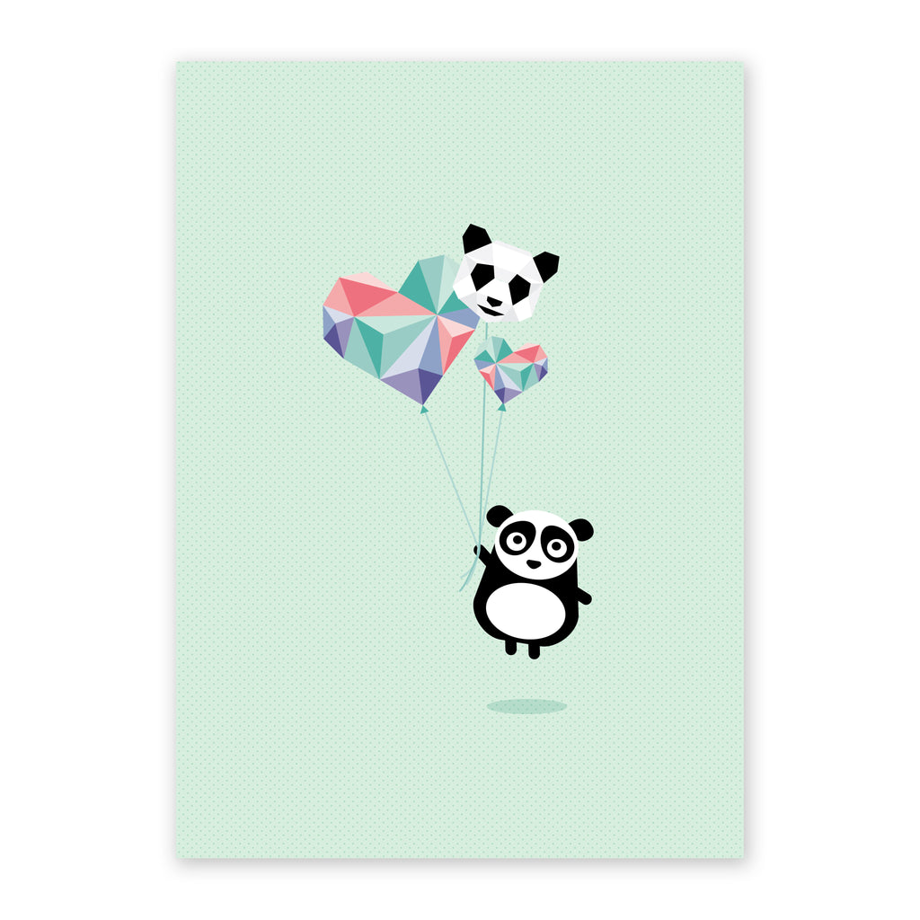 Pei the panda geometric print