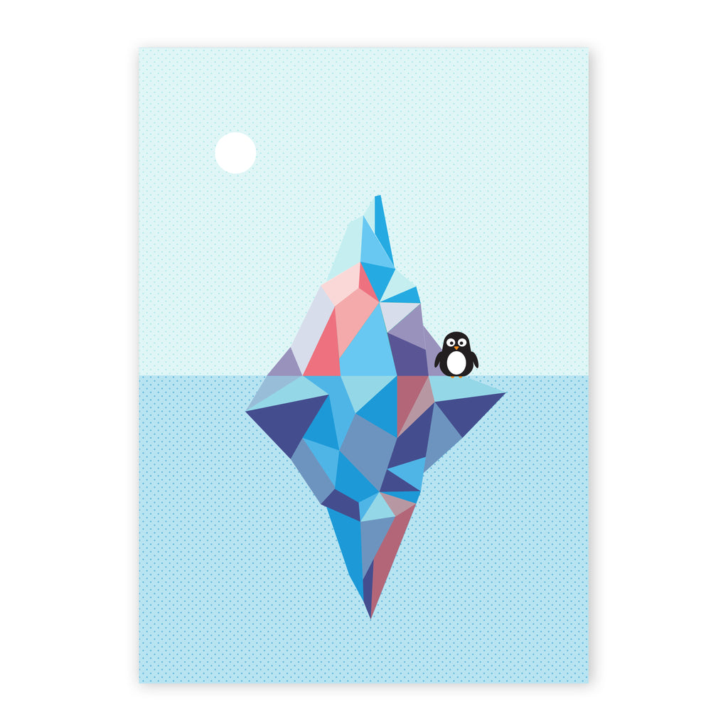 Pippa the penguin geometric print