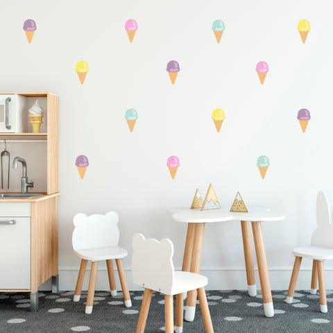 Ice cream wall decals