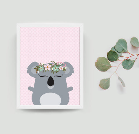 Kylie the koala boho art print