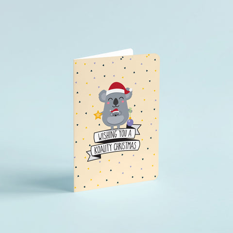 Christmas pun card  - Have yourself a koality Christmas