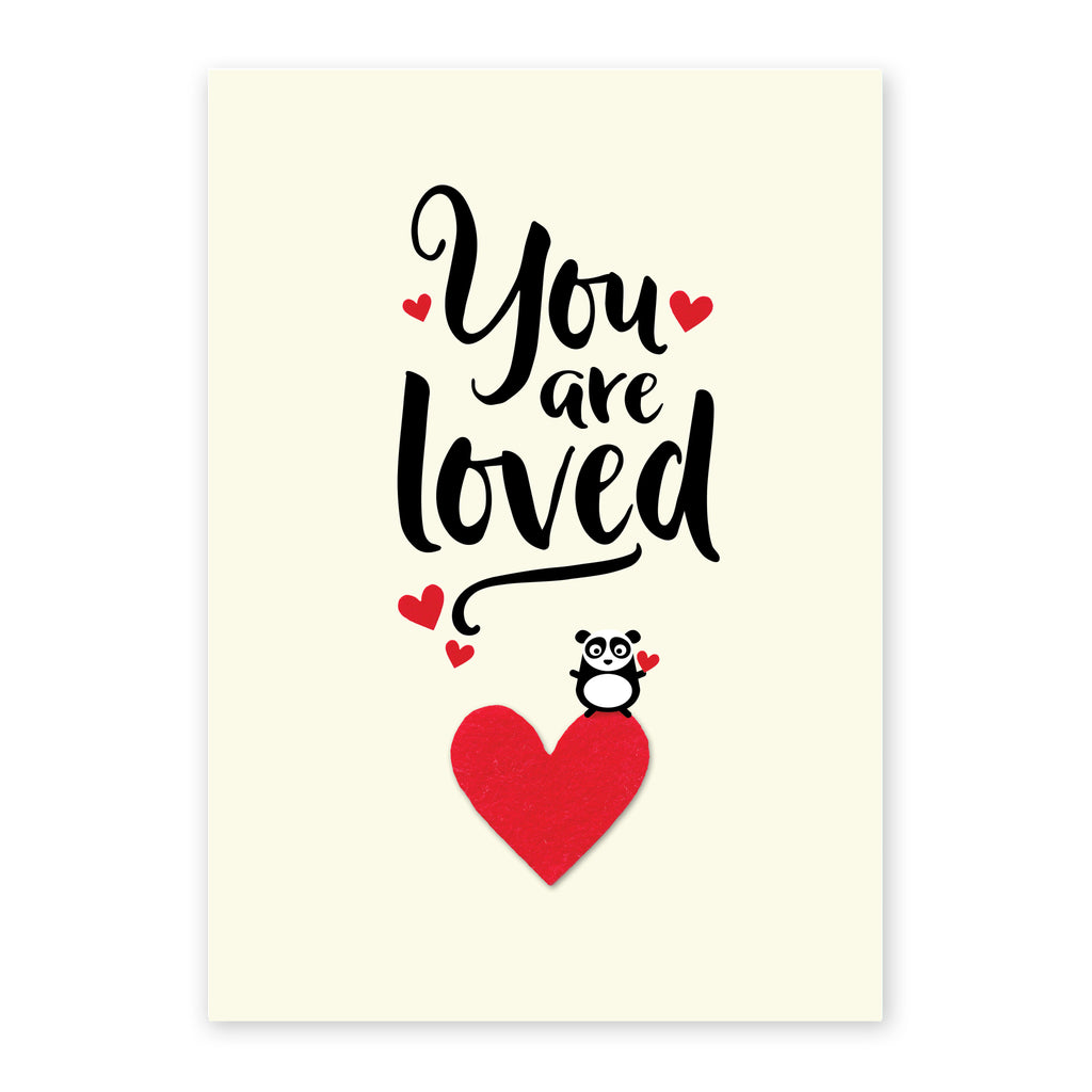 You are loved panda print