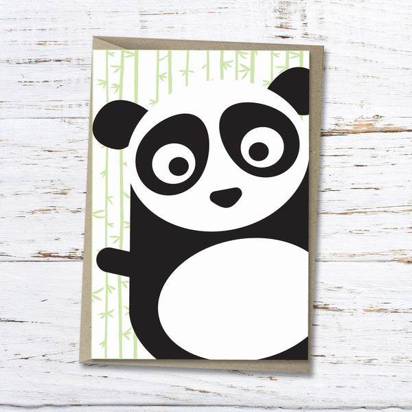 Pei the panda greeting card