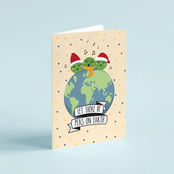 Christmas pun card  - Peas on Earth