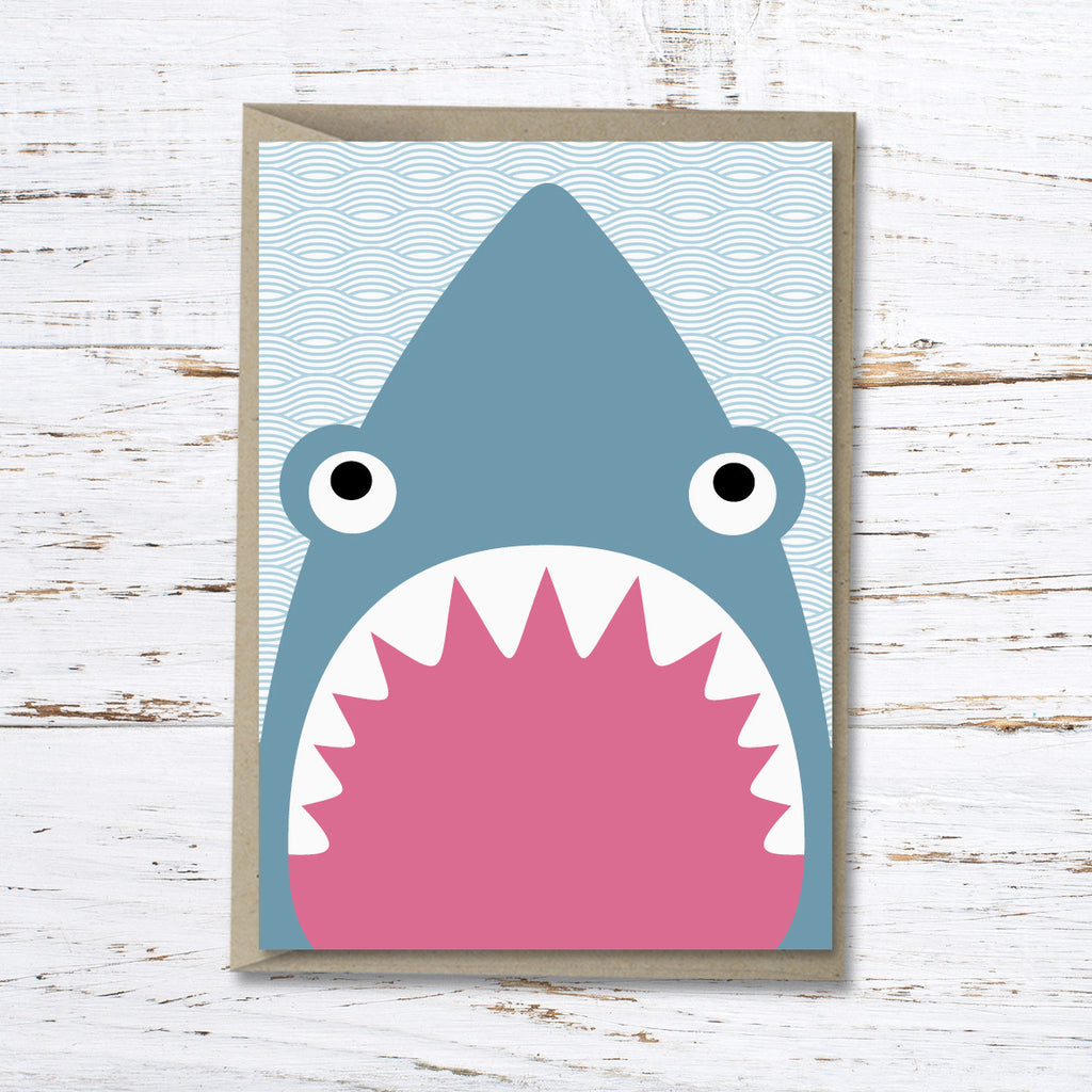 Shane the shark greeting card