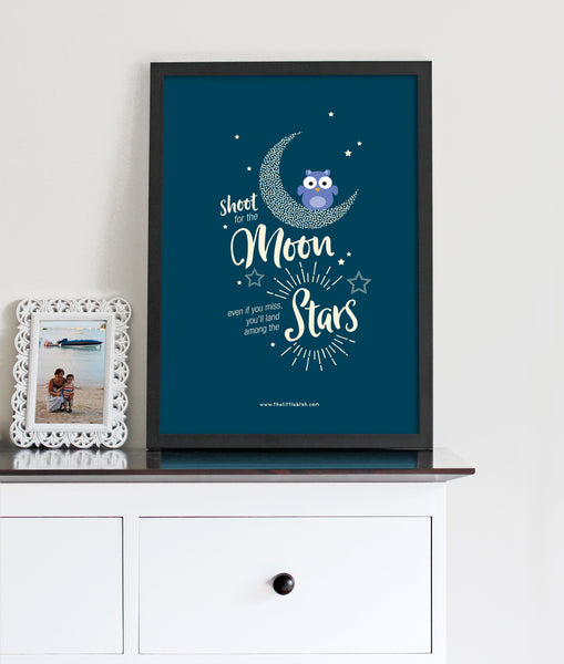 Shoot for the moon print