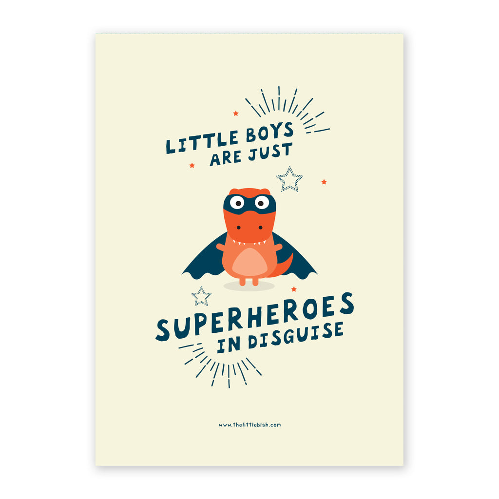Superhero boy print
