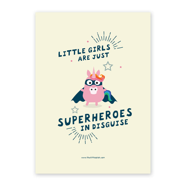 Superhero girl print