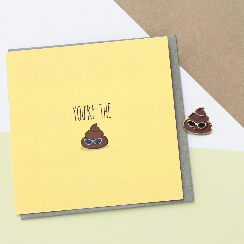 Enamel pin & card combo: Turd