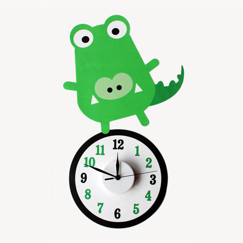 Clive the croc wall decal clock