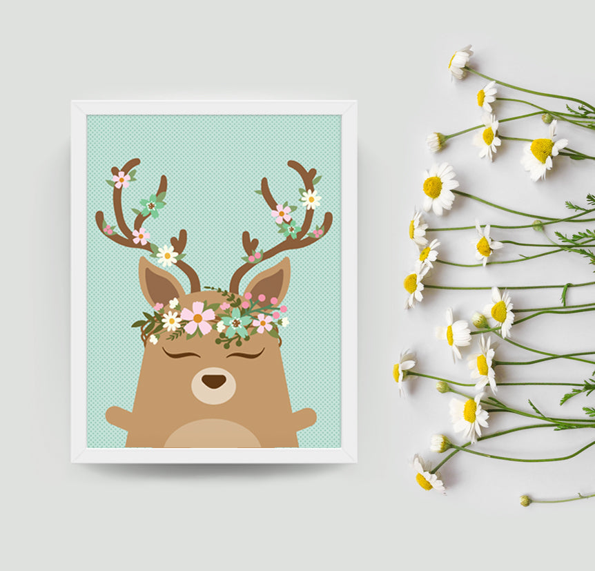 Dawn the deer art print