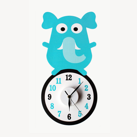 Evie the elephant wall decal clock