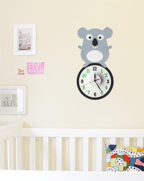 Kipp the koala wall decal clock