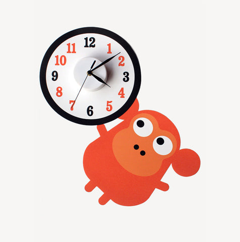 Marvin the monkey wall decal clock