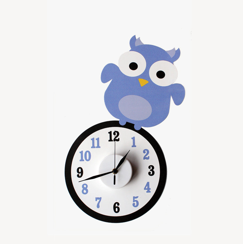 Ollie the owl wall decal clock