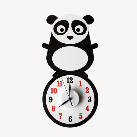 Pei the panda wall decal clock