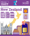 10GB - 4G New Zealand Travel Sim Card - 2 Degrees