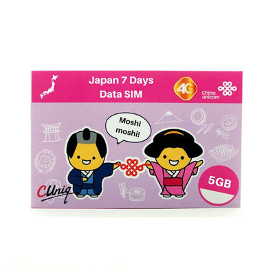 Japan 5GB Data Travel Sim Card - Soft Bank