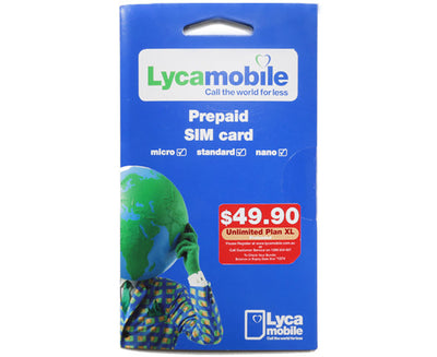 Lycamobile - So Easy XL Bundle - 20Gb of 4G Data