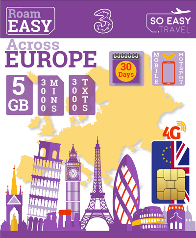 Three - All In One 5GB - So Easy International Bundle Plan