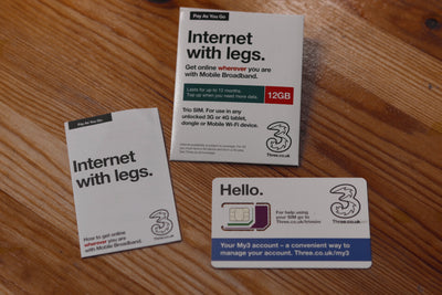 three - internet with legs - 12GB data only so easy bundle plan