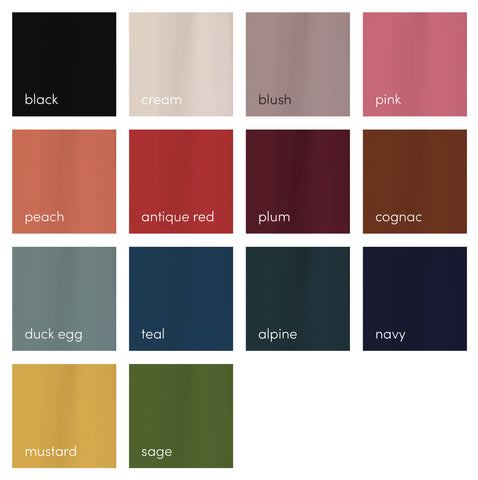 Harrie & Sam Summer Colour Chart
