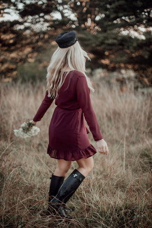 Simply Frilled Dress | Long Sleeve