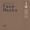 GIRLS 3-6 3XPACK Cotton Reusable Face Masks- With $2 Donation to Woman's Refuge Safe Night