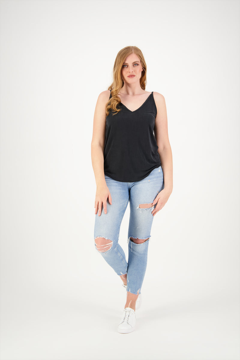 Thrasher Cami Top | Slinky Black