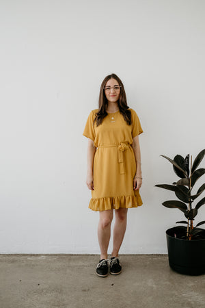 Simply Frilled Dress | Short Sleeve