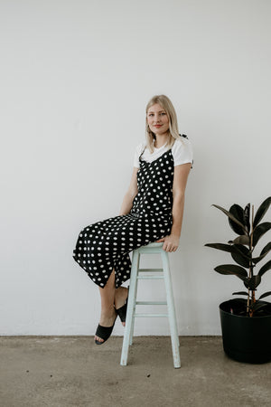 Cami Dress | Black Spots